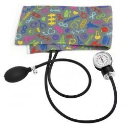 Esfigmomanómetro Aneroide para Adultos Símbolos Médicos Gris