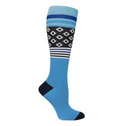 Calcetas de compresión  Black & Blue Diamonds & Stripes