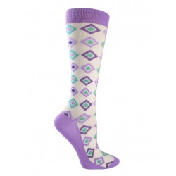 Calcetas de compresión  Diamonds Purple & Turquoise