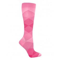 Calcetas de compresión  Simple Argyle Pink